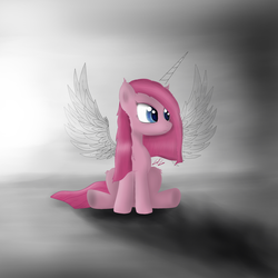 Size: 2000x2000 | Tagged: alicorn, artist:goforgold, drawn, horn, pinkamenacorn, pinkamena diane pie, pinkiecorn, pinkie pie, pony, race swap, safe, solo, wings, xk-class end-of-the-world scenario