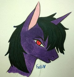 Size: 610x639 | Tagged: artist:falli, oc, oc:illusion nightwish, oc only, pony, portrait, safe, solo, unicorn