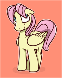 Size: 761x963 | Tagged: artist:troudi94, butterscotch, fluttershy, rule 63, safe, solo