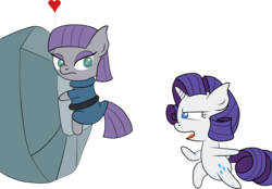 Size: 3800x2648 | Tagged: artist:schizophrenicghost, bipedal, cargo ship, chibi, frown, glare, heart, hug, love triangle, maud pie, open mouth, pony, raritom, raritomaud, rarity, rockcon, safe, shipping, tom, tomaud