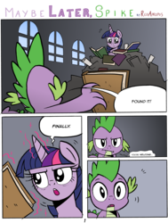 Size: 4845x6405   Tagged: safe, artist:redapropos, spike, twilight sparkle, alicorn, pony, comic:maybe later spike, absurd resolution, comic, female, mare, twilight sparkle (alicorn), ungrateful