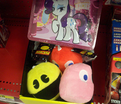 Size: 585x500   Tagged: safe, photographer:drpain, rarity, irl, merchandise, pac-man, photo, target (store), toy