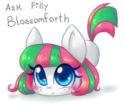 Size: 400x340 | Tagged: adoraforth, artist:bunnini, ask filly blossomforth, blossomforth, cute, filly, filly blossomforth, safe, solo