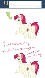 Size: 750x1280 | Tagged: safe, roseluck, ask, comic, rosereplies, solo, tumblr