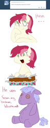 Size: 750x1920 | Tagged: safe, roseluck, ask, comic, filly, rosereplies, solo, tumblr, younger