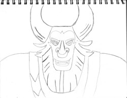 Size: 6600x5100 | Tagged: safe, artist:saburodaimando, lord tirek, twilight's kingdom, absurd resolution, black and white, grayscale, monochrome, nose piercing, nose ring, pencil drawing, piercing, sketch, solo, traditional art, wip