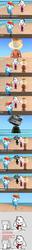 Size: 641x4997 | Tagged: safe, rainbow dash, beach, coffee, comic, computer, crack shipping, derp, espresso, kitchen sink, moridash, rainbowpresso, rainbowsink, text, tomodachi life, wat