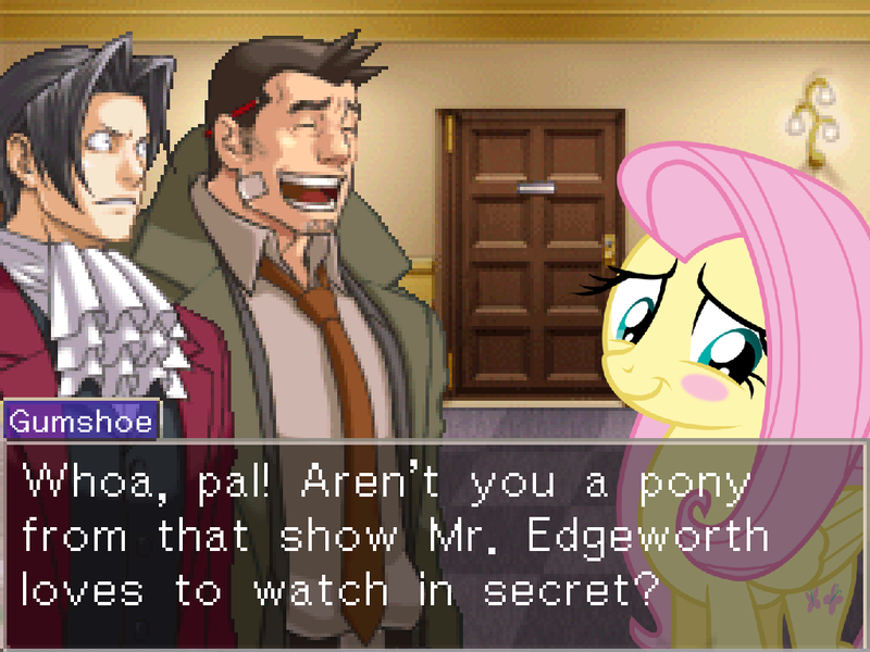 625394 Ace Attorney Ace Attorney Investigations Blushing