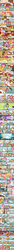 Size: 700x12101 | Tagged: safe, artist:egophiliac, apple bloom, babs seed, carrot cake, cup cake, kimono, pinkie pie, pound cake, powder, pumpkin cake, scootaloo, sweetie belle, oc, ghost, slice of pony life, apple, comic, cutie mark crusaders, everypony laughs ending, fake blood, g1, g3, guitar, keytar, mr.clippit, musical instrument, older, police, scooby doo, slice of life, teenager, win