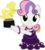 Size: 4000x4489 | Tagged: artist:jeatz-axl, award, clothes, dress, for whom the sweetie belle toils, happy, looking at you, safe, simple background, smiling, solo, statue, sweetie belle, transparent background, trophy, vector