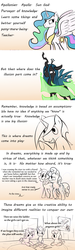 Size: 1106x3668 | Tagged: safe, artist:lockersnap, princess celestia, queen chrysalis, oc, friedrich nietzsche, philosophy
