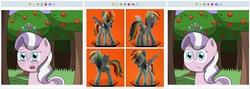 Size: 769x273 | Tagged: safe, diamond tiara, rainbow dash, derpibooru, juxtaposition, juxtaposition win, meta, scupture