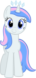 Size: 608x1315 | Tagged: 2018 community collab, artist:hfbn2, artist:liggliluff, collaboration, derpibooru community collaboration, oc, oc only, oc:princess paradise, pony, safe, simple background, solo, tiara, transparent background, unicorn, vector