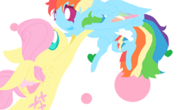 Size: 883x549 | Tagged: safe, artist:angelstar000, fluttershy, rainbow dash, butterdash, butterscotch, female, half r63 shipping, male, rule 63, shipping, straight