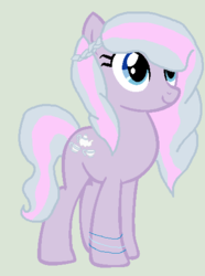 Size: 373x502 | Tagged: safe, artist:cutiemarkcrusader123, oc, oc only, magical lesbian spawn, offspring, parent:diamond tiara, parent:silver spoon, parents:silvertiara, simple background, solo