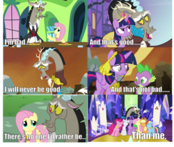 Size: 2059x1749   Tagged: safe, applejack, discord, fluttershy, pinkie pie, rainbow dash, rarity, twilight sparkle, alicorn, pony, keep calm and flutter on, princess twilight sparkle (episode), twilight's kingdom, feels, female, hug, mane six, mare, quote, reference, twilight sparkle (alicorn), wreck-it ralph