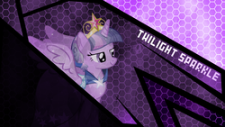 Size: 1920x1080   Tagged: safe, artist:helsoul3, artist:theshadowstone, twilight sparkle, alicorn, pony, crown, crystallized, female, mare, solo, twilight sparkle (alicorn), vector, wallpaper