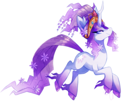 Size: 1750x1450   Tagged: safe, artist:nayobe, tree of harmony, oc, oc only, oc:harmony (heilos), classical unicorn, bedroom eyes, big crown thingy, cloven hooves, elements of harmony, flower, flower in hair, leonine tail, looking at you, ponified, simple background, smiling, solo, transparent background, unshorn fetlocks, vector
