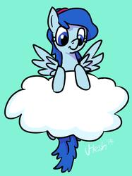 Size: 532x712   Tagged: safe, artist:hesh, oc, oc only, oc:nebula bolt, cloud, solo