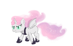 Size: 983x619 | Tagged: alicorn, alicornified, artist:bubble-toes14, nightmare sweetie belle, pony, race swap, safe, solo, sweetie belle, sweetiecorn, this will end in tears