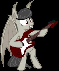 Size: 5000x6000   Tagged: safe, artist:magister39, octavia melody, bat pony, pony, vampire, absurd resolution, bat ponified, batavia, fangs, metal, race swap, rocktavia, simple background, solo, transparent background, vector