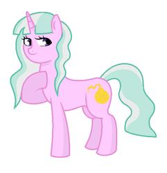 Size: 517x537 | Tagged: safe, artist:unoriginai, oc, oc only, oc:heirloom, pony, unicorn, female, magical lesbian spawn, mare, offspring, parent:diamond tiara, parent:silver spoon, parent:snails, parents:diamondsnail, parents:silvertiara, solo