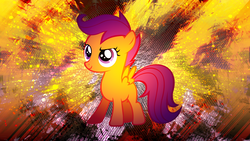 Size: 1920x1080 | Tagged: safe, artist:enemyd, artist:shelmo69, scootaloo, solo, vector, wallpaper