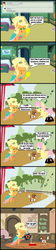 Size: 1047x4691 | Tagged: safe, artist:bronybyexception, applejack, fluttershy, winona, ask honest applejack, applejewel, appleshy, butterjack, butterscotch, dark comedy, female, half r63 shipping, male, pointy ponies, poison, rule 63, shipping, spread wings, straight, wingboner, wings, winonabuse