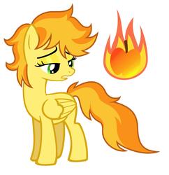 Size: 1760x1816 | Tagged: safe, artist:unoriginai, oc, oc only, oc:fireside, pegasus, pony, female, mare, offspring, parent:braeburn, parent:spitfire, parents:spitburn, solo