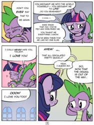 Size: 4856x6452   Tagged: safe, artist:redapropos, spike, twilight sparkle, alicorn, pony, comic:maybe later spike, absurd resolution, comic, crying, feels, female, hug, mare, twilight sparkle (alicorn)