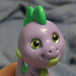 Size: 500x500 | Tagged: safe, artist:ponygirl, spike, abomination, adoracreepy, adorawat, clay, creepy, custom, cute, face of mercy, figure, irl, male, nightmare fuel, photo, sculpey, sculpture, solo, wat, what has science done, why
