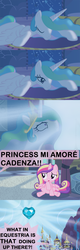 Size: 1120x3500   Tagged: safe, artist:beavernator, princess cadance, princess celestia, alicorn, pony, canterlot, comic, crystal heart, cute, cutedance, female, filly, filly cadance, young, younger