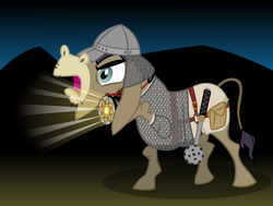 Size: 1600x1211 | Tagged: armor, artist:cheezedoodle96, chainmail, cleric, cranky doodle donkey, donkey, dungeons and dragons, fantasy class, frown, glare, harness, helmet, holy symbol, hoof hold, mace, medallion, morning star, open mouth, potion, pouch, roleplaying, safe, solo, turn undead, vector
