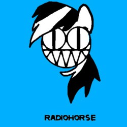 Size: 400x400 | Tagged: safe, artist:platypus in a can, rainbow dash, radiohead, solo
