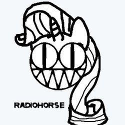 Size: 400x400 | Tagged: safe, artist:platypus in a can, rarity, monochrome, radiohead, solo