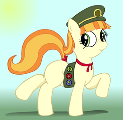 Size: 2668x2602 | Tagged: safe, artist:an-tonio, artist:lord waite, tag-a-long, colored, cute, filly, filly guides, filly scouts, gingerbetes, girl scout, ribbon, solo, thin mint