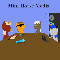 Size: 1000x1000 | Tagged: safe, oc, oc only, fish, pony, bbbff, cigar, dead, film, music, musician, nintendo entertainment system, pointy ponies, ponies, production group