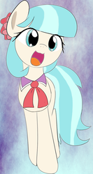 Size: 626x1175 | Tagged: safe, artist:arcum42, artist:mcsadat, edit, coco pommel, earth pony, pony, :3, cocobetes, colored, cute, female, mare, open mouth, smiling, solo