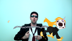 Size: 1366x768 | Tagged: blues brothers 2000, ghost pony rider, ghost rider, nostalgia critic, ponified, safe