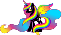 Size: 7524x4327 | Tagged: absurd res, alicorn, alicorn oc, artist:xebck, donut steel, joke oc, oc, oc only, pony, safe, simple background, solo, transparent background, vector