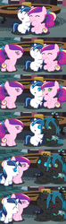 Size: 1120x3780 | Tagged: safe, artist:beavernator, princess cadance, queen chrysalis, shining armor, changeling, changeling queen, nymph, pegasus, pony, unicorn, all glory to the beaver grenadier, baby, baby cadance, baby changedling, baby changeling, baby chrysalis, baby pony, babying armor, beavernator is trying to murder us, colt, colt shining armor, comic, cute, cutealis, cutedance, cuteling, disguise, disguised baby changeling, disguised changeling, fake cadance, fake shining armor, female, filly, filly cadance, foal, good end, male, pegasus cadance, shining adorable, weapons-grade cute, younger