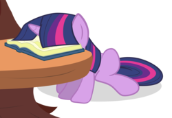 Size: 2904x2000   Tagged: safe, artist:ahumeniy, twilight sparkle, book, facebook, facebooking, female, simple background, sitting, solo, table, transparent background, vector
