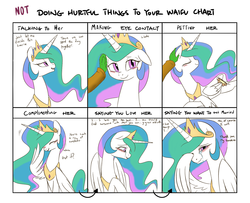 Size: 1600x1300   Tagged: safe, artist:jessy, princess celestia, oc, oc:anon, alicorn, human, pony, blushing, crying, cute, cutelestia, doing loving things, ear scratch, eyes closed, feels, female, floppy ears, grin, hair over one eye, hand, immortality blues, laughing, looking at you, looking away, mare, meme, misleading thumbnail, petting, prone, smiling, tears of joy, waifu, wing hands