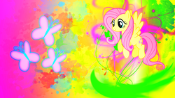 Size: 1920x1080 | Tagged: artist:sgtwaflez, fluttershy, safe, solo, wallpaper