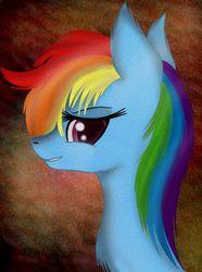 Size: 417x560 | Tagged: safe, artist:liquidarrow-x, rainbow dash, solo