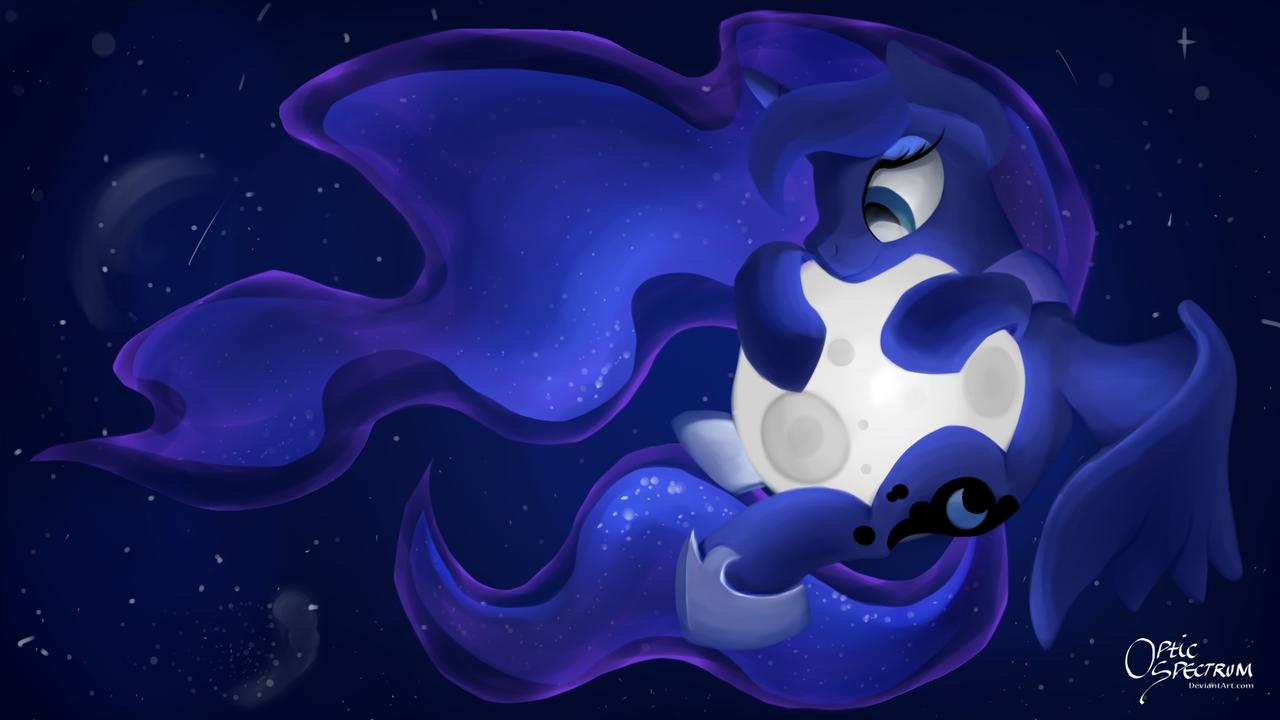 Картинки пони принцесса луна с фоном