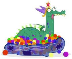 Size: 800x652 | Tagged: safe, artist:pixelkitties, crackle, dragon, ball, ball pit, big crown thingy, dashcon, element of magic, forked tongue, jewelry, regalia, simple background, solo, tongue out, transparent background, vector