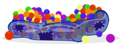Size: 1200x470 | Tagged: safe, artist:pixelkitties, ball pit, barely pony related, dashcon, simple background, solo, transparent background