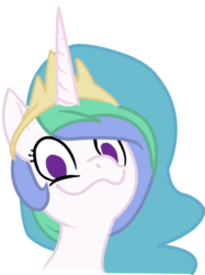 Size: 600x801 | Tagged: :3, artist:furseiseki, dolan, female, looking at you, mare, meme, pls, pony, princess celestia, reaction image, safe, simple background, smiling, solo, transparent background, vector, wavy mouth, wide eyes