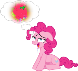 Size: 1506x1370 | Tagged: artist needed, source needed, safe, edit, pinkie pie, spike, lesson zero, dream, drool, female, frosting, imagination, love, male, pinkiespike, shipping, straight